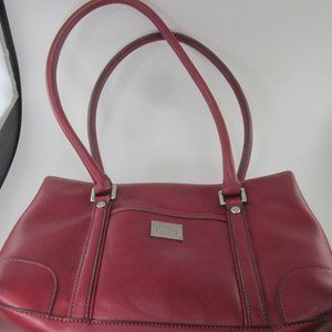 Liz Clairborne red leather handbag